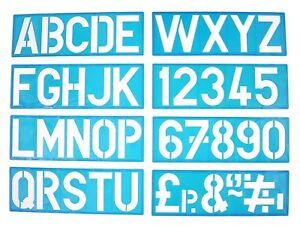 Plastica Segno Scrittura Stampo Kit Lettere & Numeri Alfabeto Maiuscole (100mm)