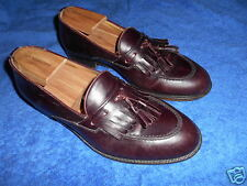 BRUNO MAGLI REX CORDOVAN LOAFER TASSEL SHOES SIZE 9M FROM ITALY   EXCELLENT.!