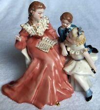 Florence Ceramics STORY BOOK HOUR w/BOY figurine-MINT