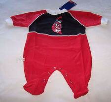 St Kilda Saints AFL Boys Red Black Printed Romper Grow Suit Size 00 / 0 New