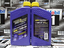 6 x 1 US Quart Royal Purple Engine Oil XPR 10w-40 5.7 Litre