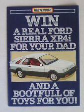 RARE MATCHBOX ''WIN A REAL FORD SIERRA XR4i FOR YOUR DAD'' PROMO LEAFLET 1983