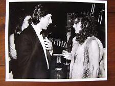 Young Jacqueline Bisset and Tennis Legend Ilie Nastase Photograph 8x10 B&W