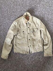 levis corduroy Cream jacket | Denim Trucker Coat