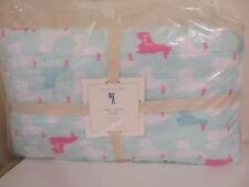 POTTERY BARN KIDS LIBBY LLAMA QUILT TWIN SIZE NEW