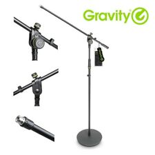 Gravity MS 2321 B Black Steel Adjustable Microphone Stand with Boom Arm