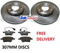FOR Volkswagen Touareg 2.5 TDI (2003-2010) Front 2 Brake Discs And Pads Set *NEW