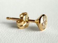 750 ECHT GOLD *** Gold Zirkonia Herren Single- Ohrstecker Ohrring 4,5 mm