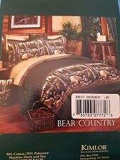 """NEW Blue Ridge Trading BEAR COUNTRY King Size Bed Skirt Green/Gold Plaid 78""""x80"""""""