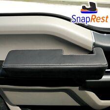 SnapRest for 2015-19 Ford F-150: Premium Black Leather + Silver Thread