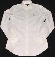 Ralph Lauren Custom Fit Oxford Shirt In White