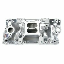 Edelbrock 75011 Performer RPM AIR-Gap Intake Manifold - Polished, For Chevy S/B