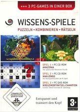 Wissens-Spiele (Amazonia+MahJongg+Kreuzworträtsel-Champion)