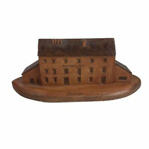 Vintage Cacinci Croatia Automatski Mlin Building Wooden Carved Folk Art U26