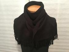 "Authentic Vintage CHRISTIAN DIOR Black Wool Fringe Scarf 11""x 51"""