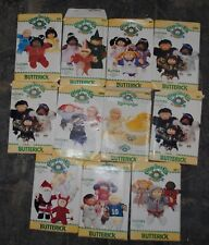 11 Vintage Butterick Cabbage Patch Kids Doll Sewing Patterns 1980's