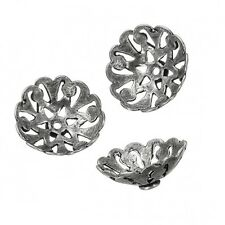 Antique Silver Bali Cut Out Dome Bead End Caps 16mm Sold as a Pack of 3 (B26/5)