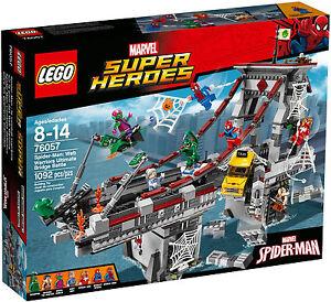 Lego Super Heroes 76057 Spider Man la battaglia sul ponte dei Web Warriors Nuovo