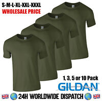 Military Green Army T Shirt 100% Cotton Gildan Wholesale Fishing Shooting Forest