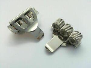 Triple Hole Metal Pen Holder With Pocket Clip - Doctors, Nurse, Uniform etc