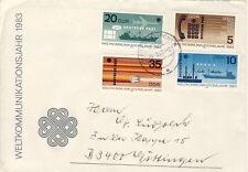 Ersttagsbrief DDR MiNr. 2770-2773, Weltkommunikationsjahr