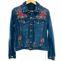 Blank NYC Women's Distressed Rose Denim Denim Jean Jacket New With Tags Size XS