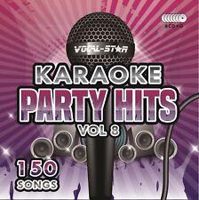 Vocal-Star Party Hits 8 disco CD + G Karaoke CDG Set 150 canciones