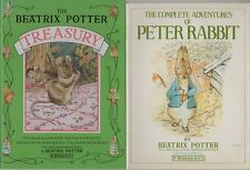 BEATRIX POTTER BOOKS x 2 THE TREASURY & THE COMPLETE ADVENTURES OF PETER RABBIT