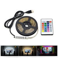 1m 3m 5m IP20 3528 SMD DC 5V USB LED strip RGB remote control USB cable adapter