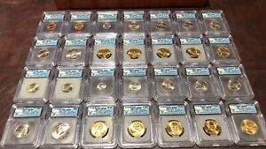 2008 ICG-SP69 Satin Finish Set (28 coins); includes wood slab holder!