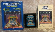 Atari 2600 Video Game CIB & Manual Video Pinball  [Picture Label] CX-2648.1980