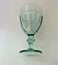 LIBBEY HEAVY PRESSED GIBRALTAR SPANISH LT GREEN WATER GLASS GOBLET 6 3/4 '94-'04