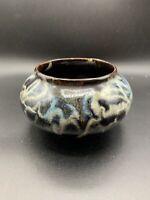 handmade art pottery bowl Beautiful Drip Swirl Glaze