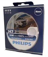 2x Philips h7 12v 55w px26d racing Vision +150% UK ref:477 12972rvs2