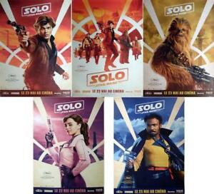 SOLO A STAR WARS STORY - RARE ORIGINAL BUS SHELTER CHARACTER MOVIE POSTERS SET