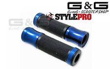 Lenkergriffe Griffe Satz CNC Sport schwarz blau für Motorrad Roller Quad ATV