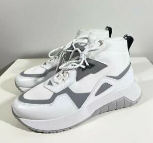 Brand-new Men's Hugo Boss White Atom High-Top Sneakers in US 11/UK 10/EU 44