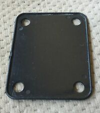 Fernandes Strat Style Electric Guitar Neck Plate Original Black Pad