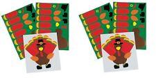 2pk Make-A-Turkey Stickers 12 sheets (24 sheets)