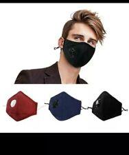 X6  REUSABLE -WASHABLE Face Mask. Anti HAZE, Pollen  PM2.5 FILTERS. AU STOCK.