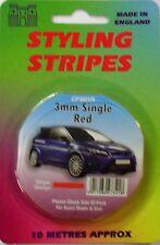 "Car Body Styling Pin Stripe 3mm (1/8"") Red"