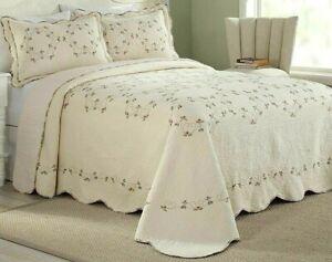 Modern Heirloom Felisa Embroidered Bedspread Ivory  Sz King