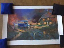 ANDREW WARDEN Seriolithograph BLUE BUS  125/750 Limited Edition SIGNED COA