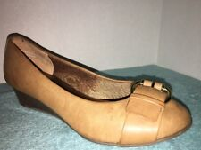 Coach and Four Tan  Wedge Slip On Shoes Size 6