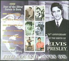 MALDIVES 70th BIRTH OF ELVIS PRESLEY  SC#2869  SHEET IMPERFORATED MINT NH