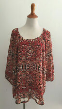 Rose & Olive Overlay Top Plus Size 1X New NWT