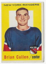 1959-60 Topps Hockey Card Brian Cullen #55 New York Rangers