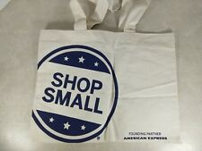 Rebecca Minkoff Small Business Saturday Tote Bag Ivory Blue Lightweight Cotton