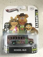 HOT WHEELS 2013 RETRO ENTERTAINMENT THE MUPPETS SCHOOL BUS MISS PIGGY