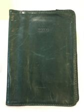 """M0851 Leather Soft Green Book Cover """"RARE"""" 5 1/4"""" X 7 1/4"""""""